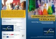 lehrerfortbildungen in berlin 2014 - Science on Stage Deutschland