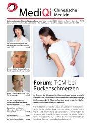 Forum: TCM bei Rückenschmerzen - MediQi