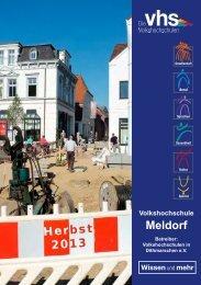 Programm Herbst 2013 - VHS Meldorf