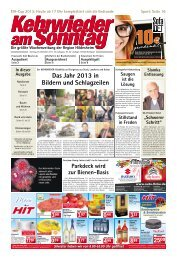 Aktuelle Ausgabe lesen - Kehrwieder am Sonntag