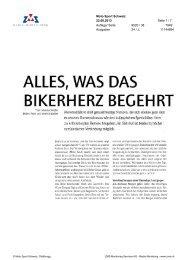 was das Bikerherz begehrt, Moto Sport Schweiz, 22. August ... - Enit