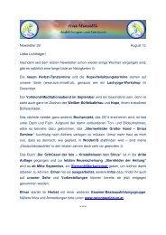 Newsletter 39 August 13 Liebe Lichtträger! Nachdem ... - Ava Minatti