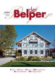 Oktober 2013 - Der Belper