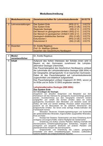 Download Modulbeschreibungen Lehrplanaternative Geologie (pdf)