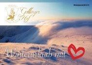 Unser Gollinger Hof-Winterprospekt 2013/14. - Wander- & Relax ...