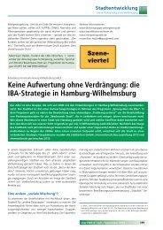 Keine Aufwertung ohne Verdrängung: die IBA-Strategie in Hamburg ...