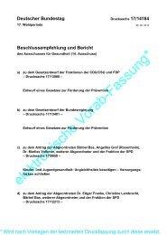 Drucksache 17/14184 - Verband Deutscher Betriebs- und ...
