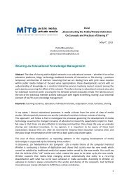 Sharing as Educational Knowledge Management - MIT