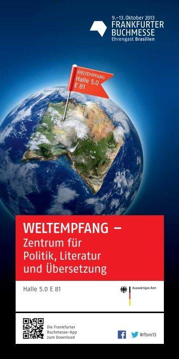 Programm Weltempfang 2013 - Frankfurter Buchmesse
