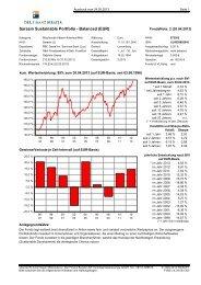Fonds: Sarasin Sustainable Portf. Balanced EUR - Der Finanz Berater