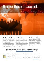 Shopleiter-Magazin - Wallaby.de, Susanne Angeli