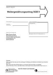 Weitergewährungsantrag SGB II - Main-Taunus-Kreis