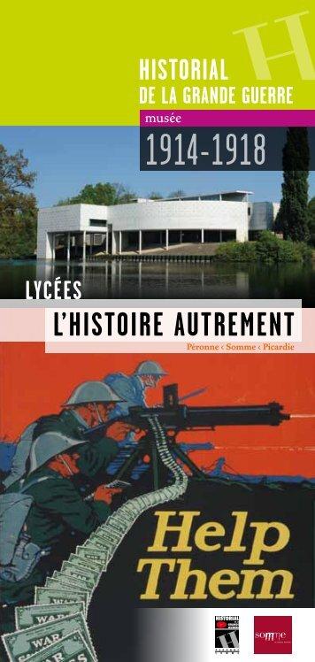 Brochure Lycées (pdf - 1,33 Mo) - Historial de la Grande Guerre