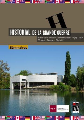 Brochure Séminaires (pdf - 4,11 Mo) - Historial de la Grande Guerre