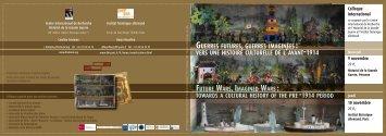 Programme (pdf - 300,72 ko) - Historial de la Grande Guerre