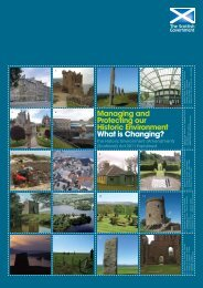 Managing and Protecting our Historic ... - Historic Scotland