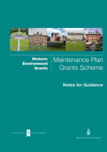 Maintenance Notes [pdf, 125kb] - Historic Scotland