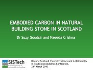 EMBODIED CARBON IN NATURAL BUILDING ... - Historic Scotland