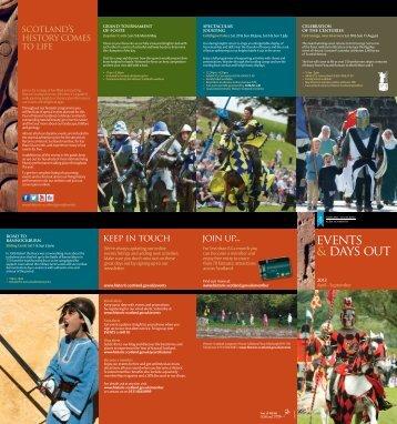 Events Guide - Historic Scotland