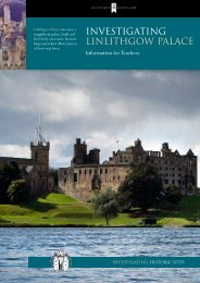 Investigating - Linlithgow Palace - Historic Scotland