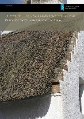 Download the Thatched Housed Maintenance ... - Historic Scotland