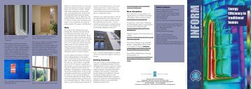 Energy Efficiency in traditional homes - Historic Scotland