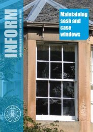 Inform Guide - Maintaining Sash and Case ... - Historic Scotland