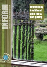 Maintaining Traditional Plain Glass and Glazing - Historic Scotland