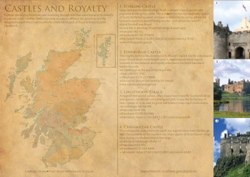 Movie Map- Castles and Royalty - Historic Scotland on