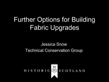 11. Further Options for Building Fabric Upgrades - Historic Scotland