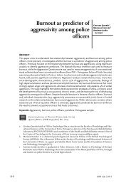 Burnout as predictor of aggressivity among police officers