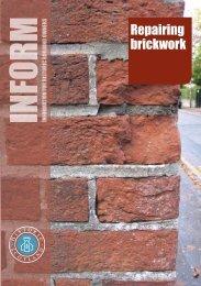 Inform Guide - Repairing brickwork - Scotland's Churches Trust
