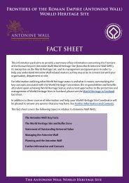 The Antonine Wall World Heritage Site Fact Sheet - Historic Scotland