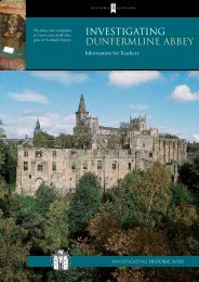 Investigating - Dunfermline Abbey - Historic Scotland