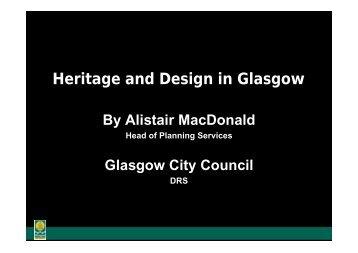 Download Alistair MacDonald's presentation ... - Historic Scotland