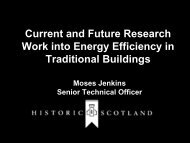 Current and Future Research Work into Energy ... - Historic Scotland