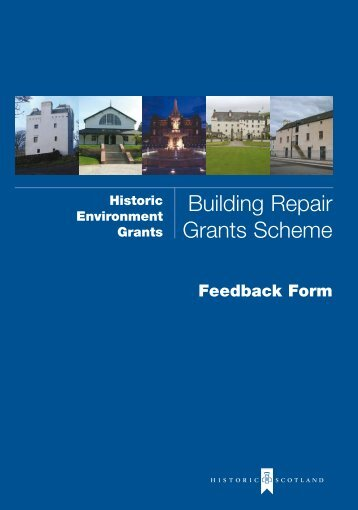 Feedback Form - Historic Scotland