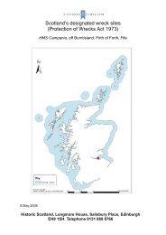 Scotland's designated wreck sites - Historic Scotland