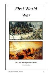 The First World War - Historic Scotland