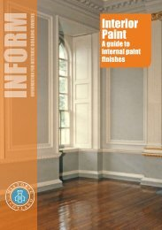 Inform Guide - Interior Paint - Historic Scotland