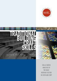 Traditional building craft skills - Historic Scotland