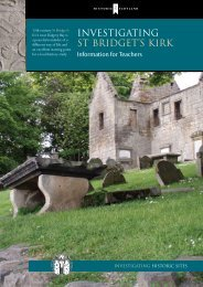 Investigating - St Bridgets Kirk - Historic Scotland