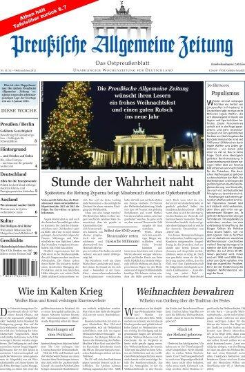 Folge 51/52 vom 24.12.2012 - Archiv Preussische Allgemeine Zeitung