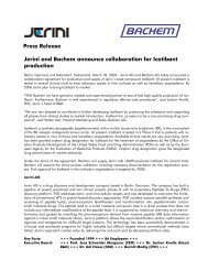 Press Release Jerini and Bachem announce collaboration for ...
