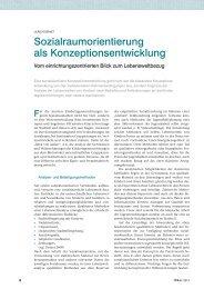 Sozialraumorientierung als Konzeptionsentwicklung - ErzieherIn.de