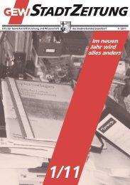 Stadtverbandszeitung - Heft 1/2011 - GEW