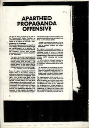 apartheid propaganda offensive - Historical Papers - University of ...