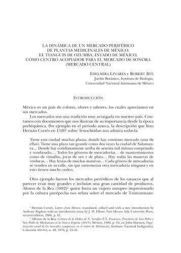 La dinÁmica de Un mercado PeriFérico de PLanTas medicinaLes ...