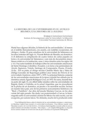 UNA HISTORIA DE lA IGlESIA? - Instituto de Investigaciones ...