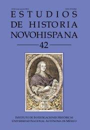 estudios novohispana de historia - Instituto de Investigaciones ...